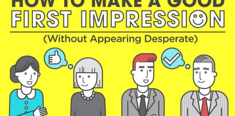 Comment faire une bonne première impression ? #infographie