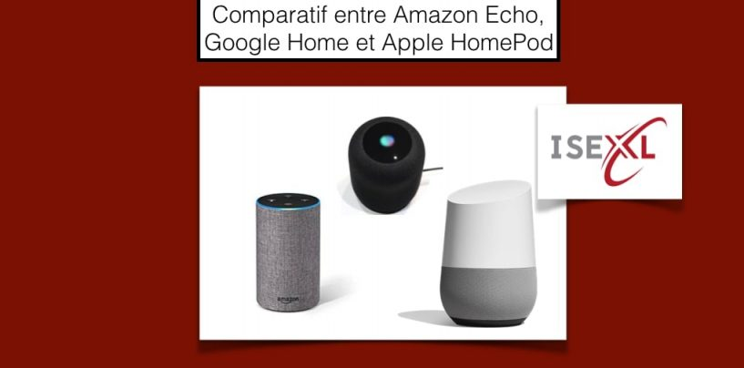 Comparatif entre Amazon Echo, Google Home et Apple HomePod